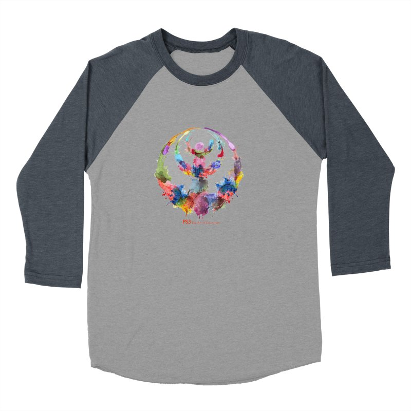 Limited Edition PS3 Watercolor Logo Men's Baseball Triblend T-Shirt by PS3: Charrette School