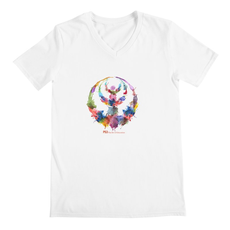 Limited Edition PS3 Watercolor Logo Men's V-Neck by PS3: Charrette School