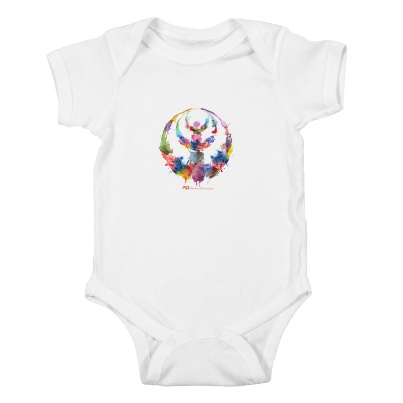 Limited Edition PS3 Watercolor Logo Kids Baby Bodysuit by PS3: Charrette School