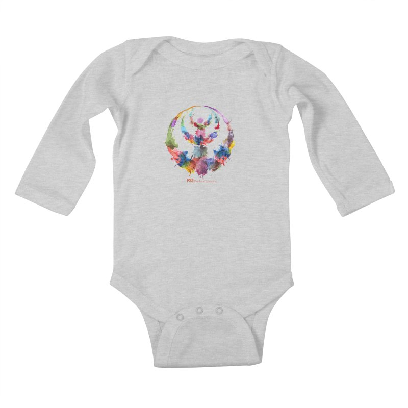 Limited Edition PS3 Watercolor Logo Kids Baby Longsleeve Bodysuit by PS3: Charrette School