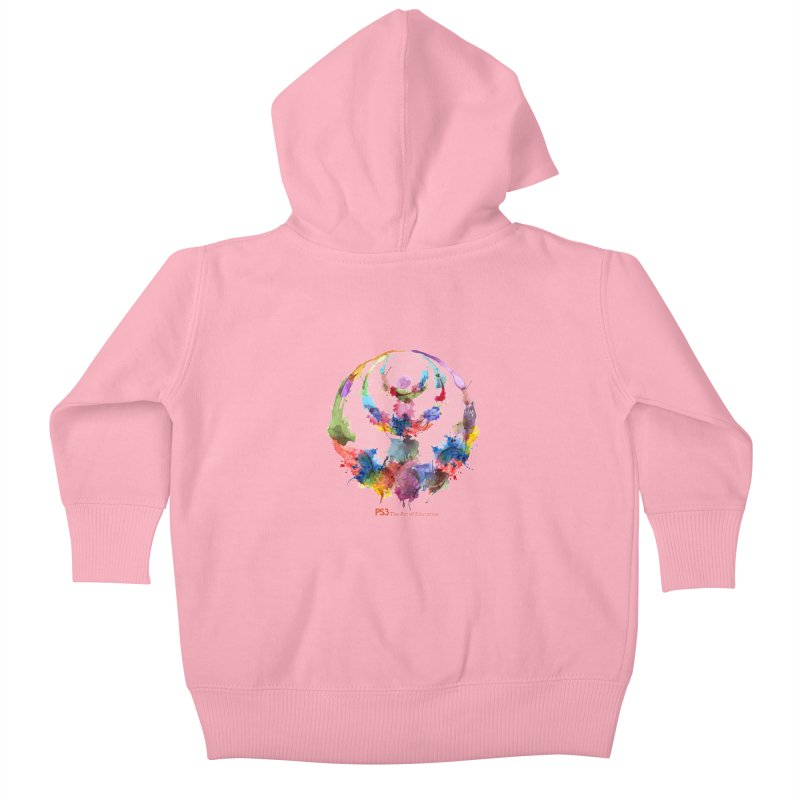 Limited Edition PS3 Watercolor Logo Kids Baby Zip-Up Hoody by PS3: Charrette School