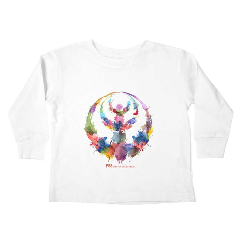 Limited Edition PS3 Watercolor Logo Kids Toddler Longsleeve T-Shirt by PS3: Charrette School