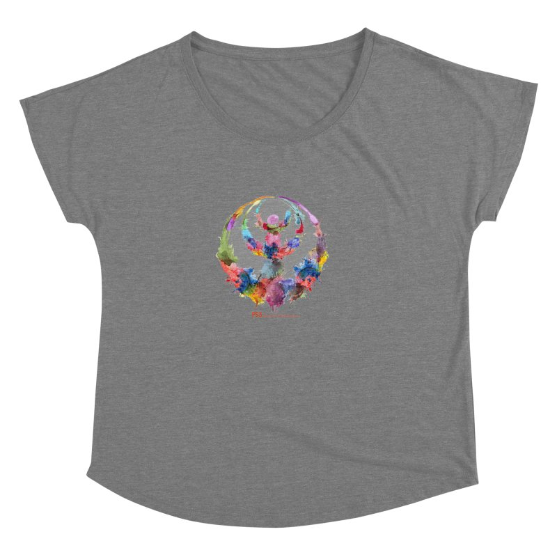 Limited Edition PS3 Watercolor Logo Women's Dolman Scoop Neck by PS3: Charrette School