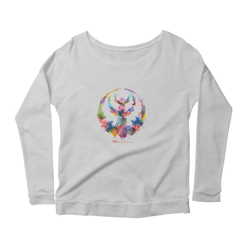 Limited Edition PS3 Watercolor Logo Women's Longsleeve Scoopneck  by PS3: Charrette School