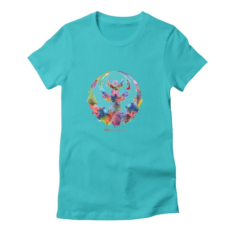 Limited Edition PS3 Watercolor Logo Women's Fitted T-Shirt by PS3: Charrette School