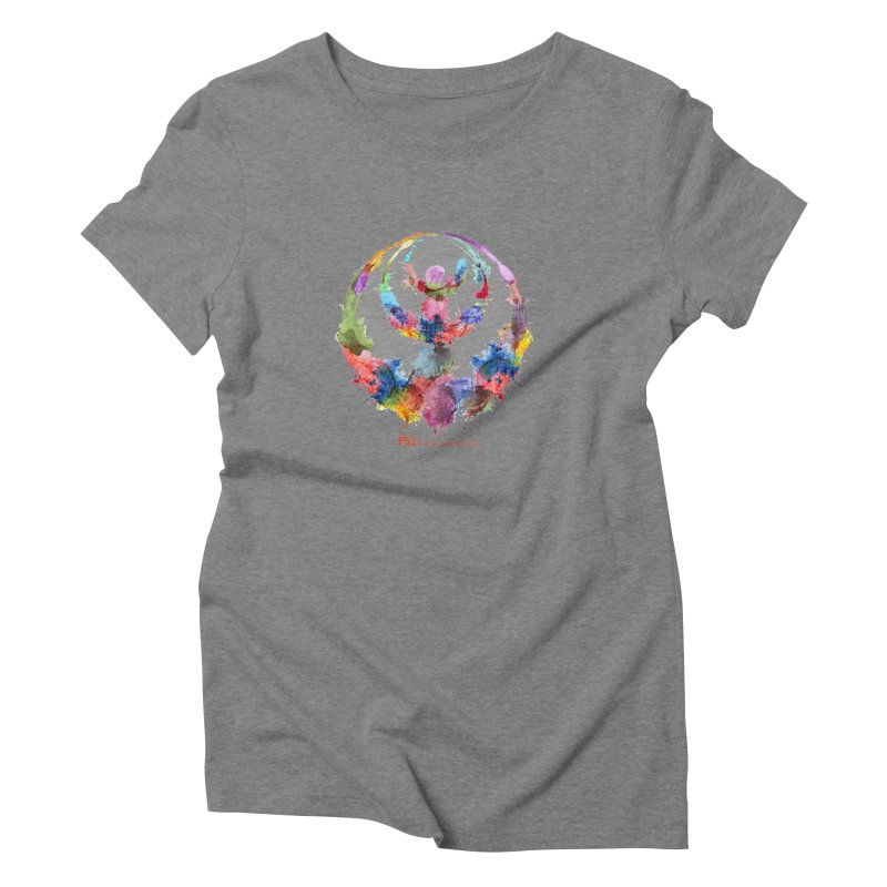 Limited Edition PS3 Watercolor Logo Women's Triblend T-Shirt by PS3: Charrette School