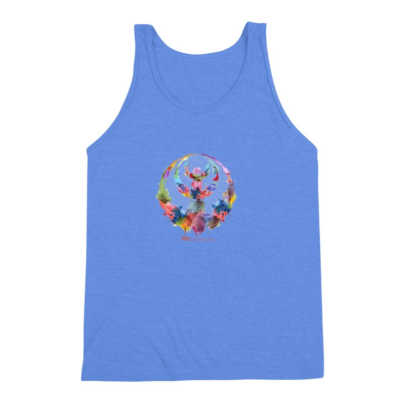 Limited Edition PS3 Watercolor Logo Men's Triblend Tank by PS3: Charrette School
