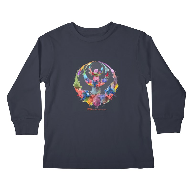 Limited Edition PS3 Watercolor Logo Kids Longsleeve T-Shirt by PS3: Charrette School