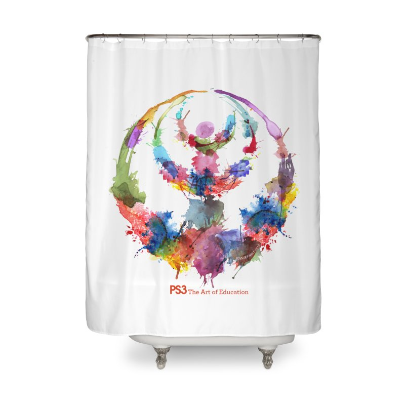 Limited Edition PS3 Watercolor Logo Home Shower Curtain by PS3: Charrette School