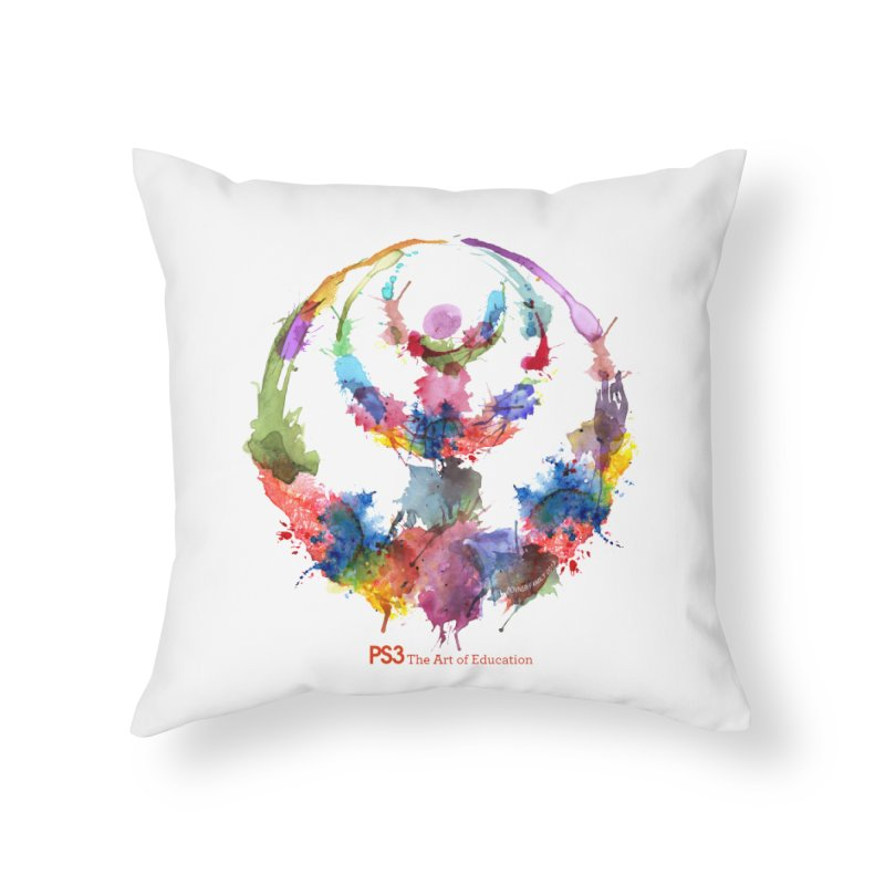 Limited Edition PS3 Watercolor Logo Home Throw Pillow by PS3: Charrette School