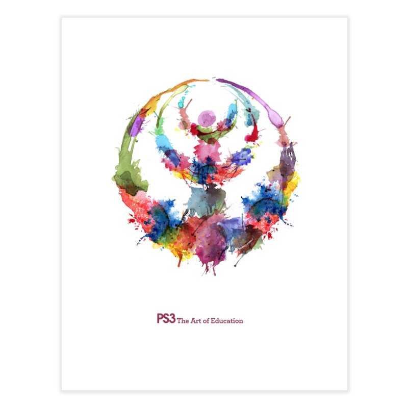 Limited Edition PS3 Watercolor Logo Home Fine Art Print by PS3: Charrette School