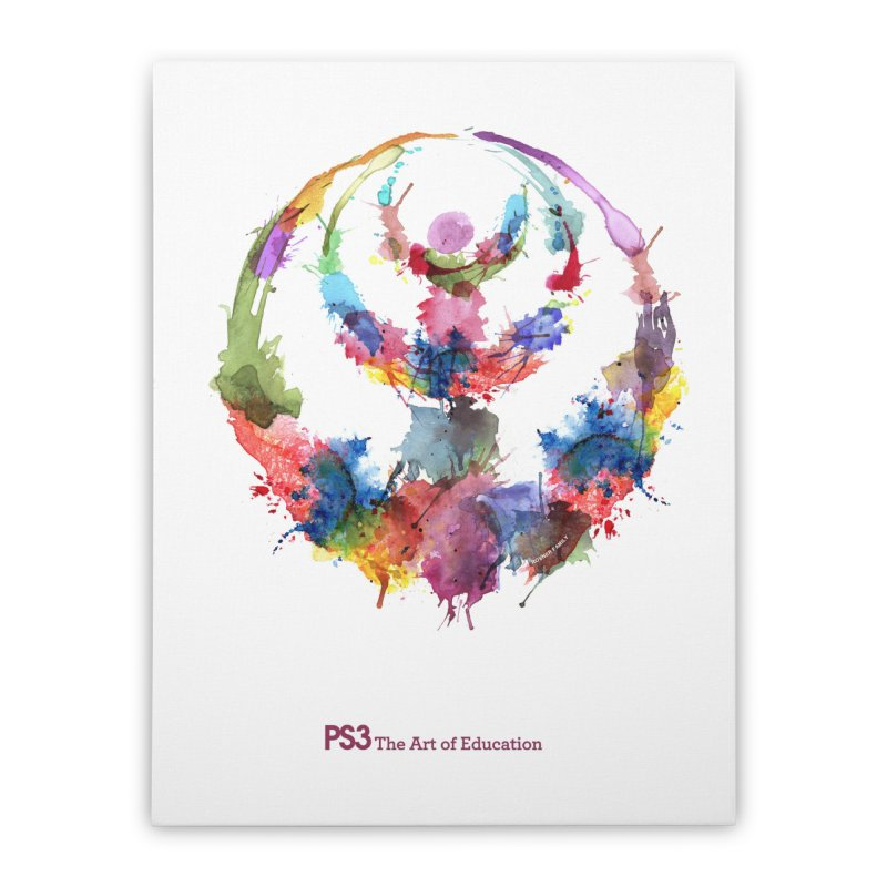 Limited Edition PS3 Watercolor Logo Home Stretched Canvas by PS3: Charrette School