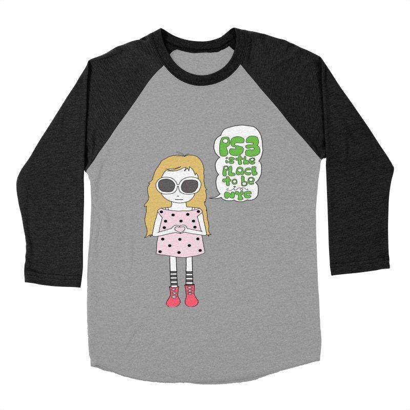 PS3 GIRL Women's Baseball Triblend Longsleeve T-Shirt by PS3: Charrette School