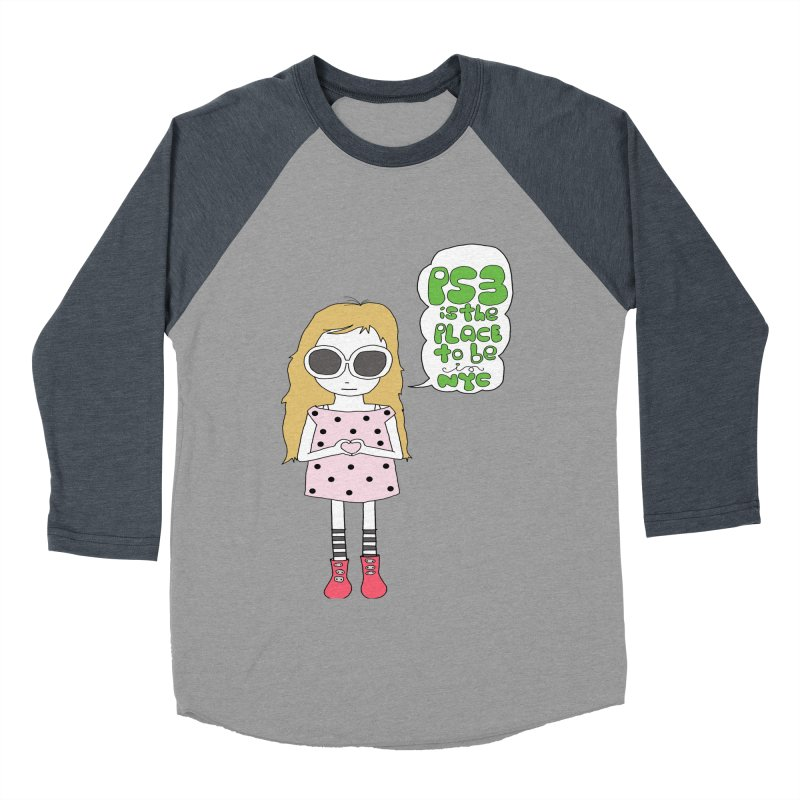 PS3 GIRL Men's Baseball Triblend Longsleeve T-Shirt by PS3: Charrette School