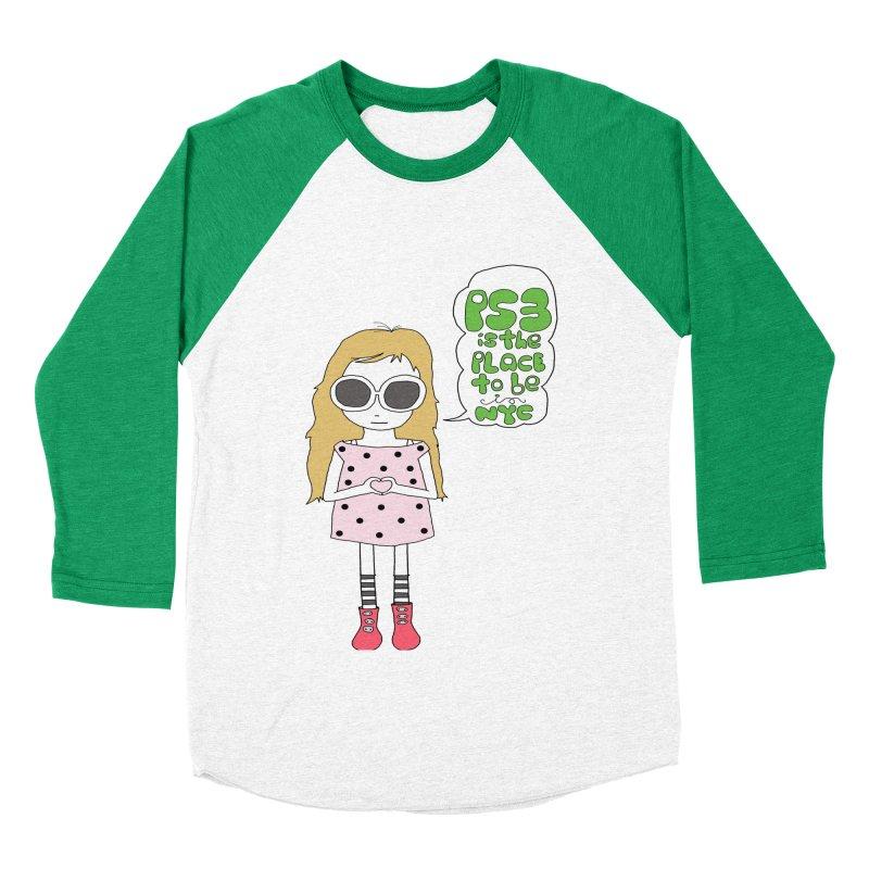 PS3 GIRL Men's Baseball Triblend Longsleeve T-Shirt by PS3: Charrette School