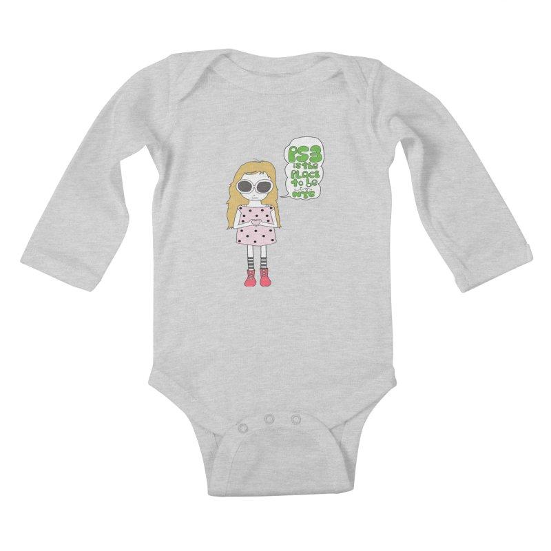 PS3 GIRL Kids Baby Longsleeve Bodysuit by PS3: Charrette School