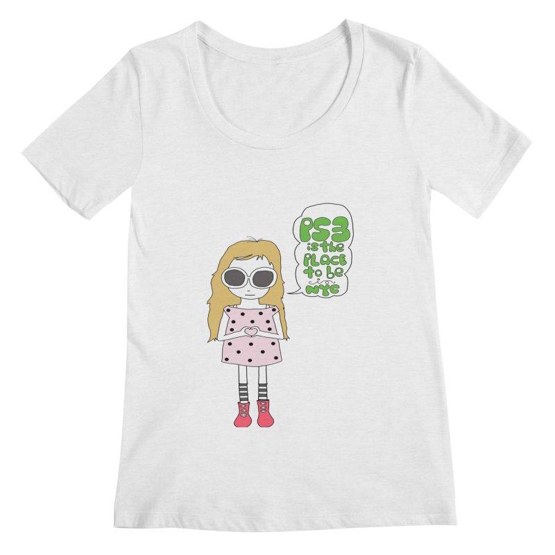 PS3 GIRL Women's Regular Scoop Neck by PS3: Charrette School