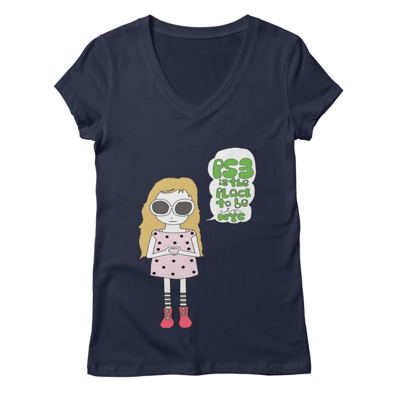 PS3 GIRL Women's V-Neck by PS3: Charrette School