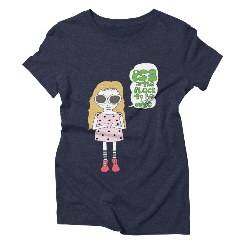 PS3 GIRL Women's Triblend T-Shirt by PS3: Charrette School
