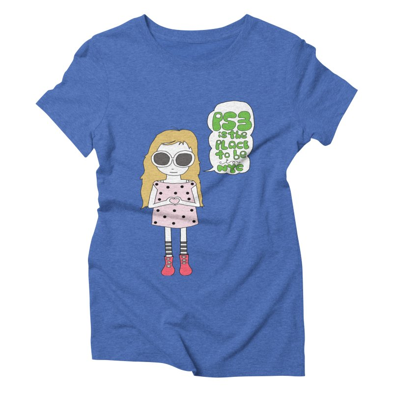 PS3 GIRL Women's Triblend T-Shirt by PS3: Charrette School