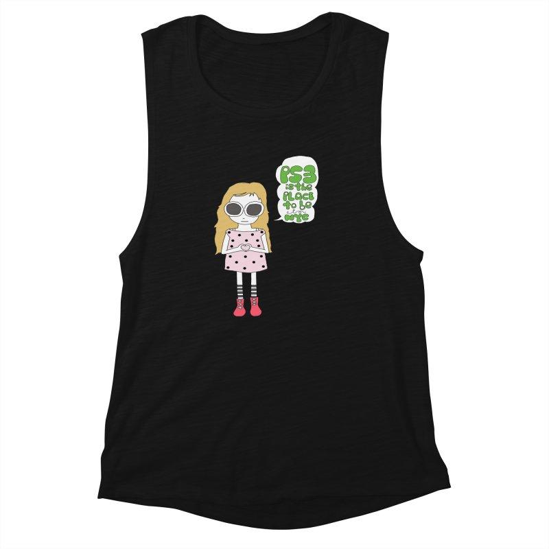 PS3 GIRL Women's Muscle Tank by PS3: Charrette School