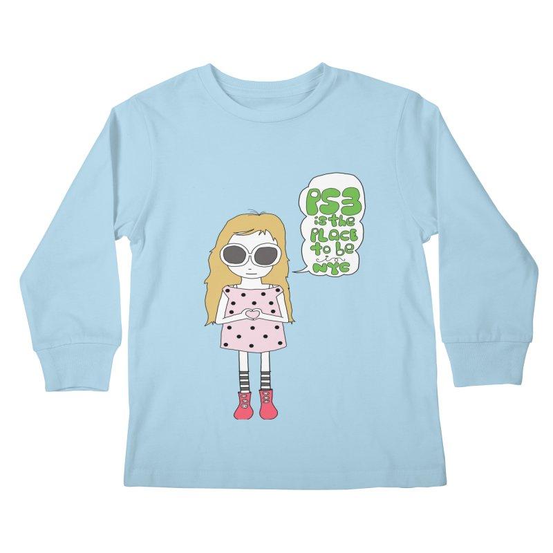PS3 GIRL Kids Longsleeve T-Shirt by PS3: Charrette School