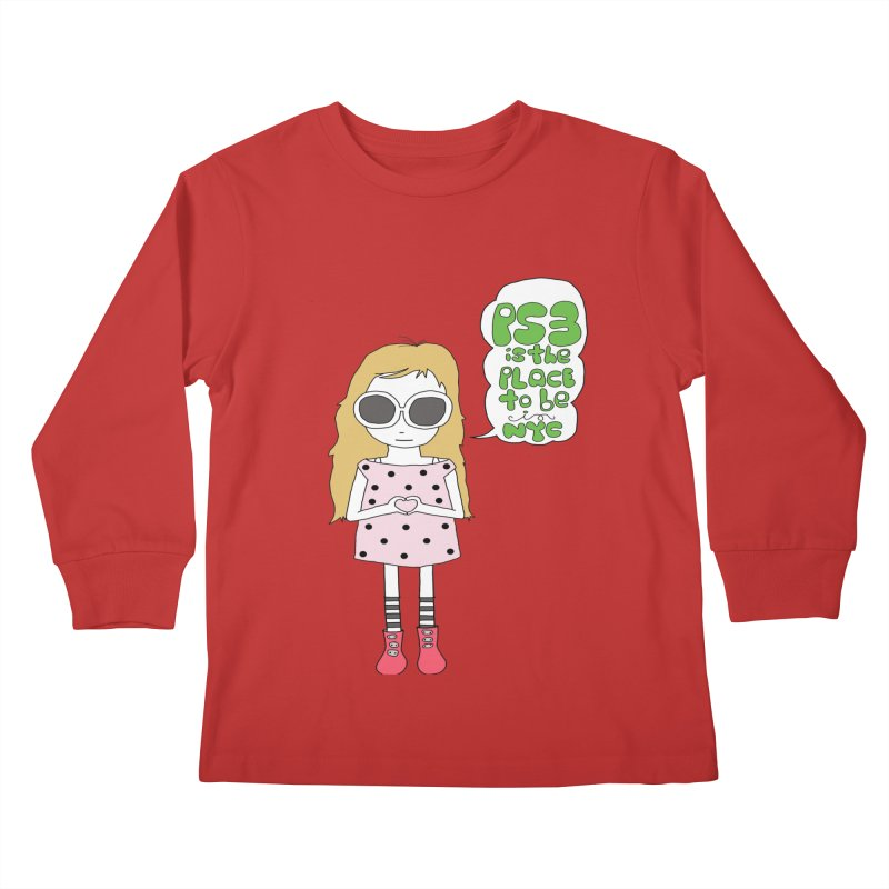PS3 GIRL Kids Longsleeve T-Shirt by PS3: Charrette School