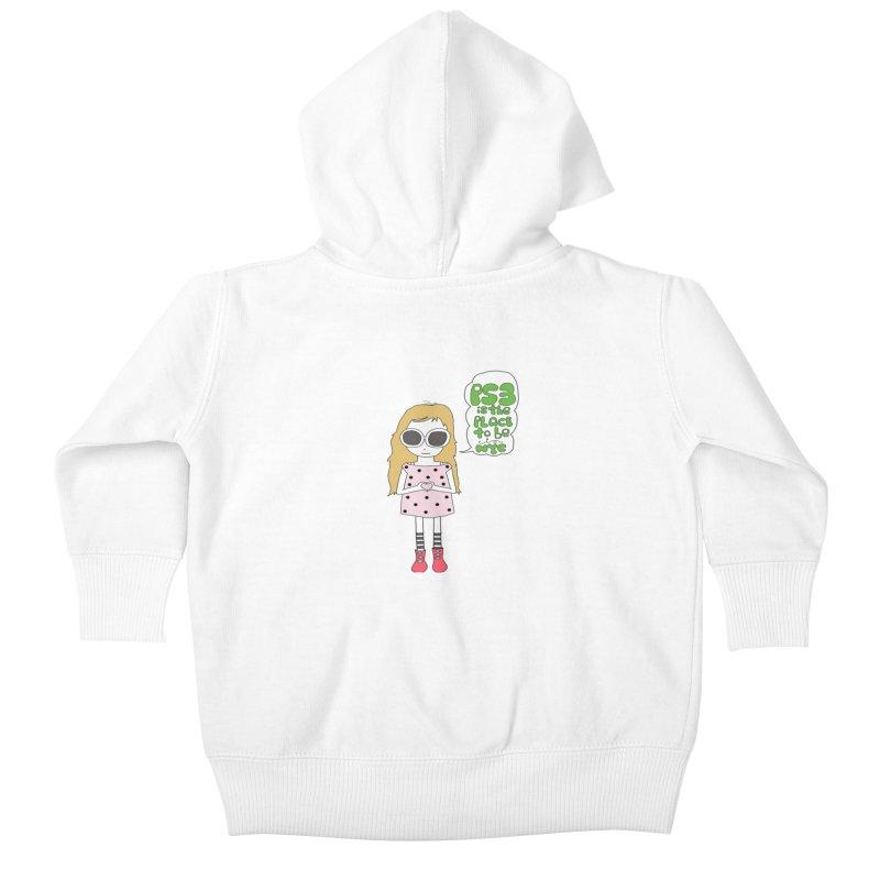 PS3 GIRL -- ZIP UP HOODY Kids Baby Zip-Up Hoody by PS3: Charrette School