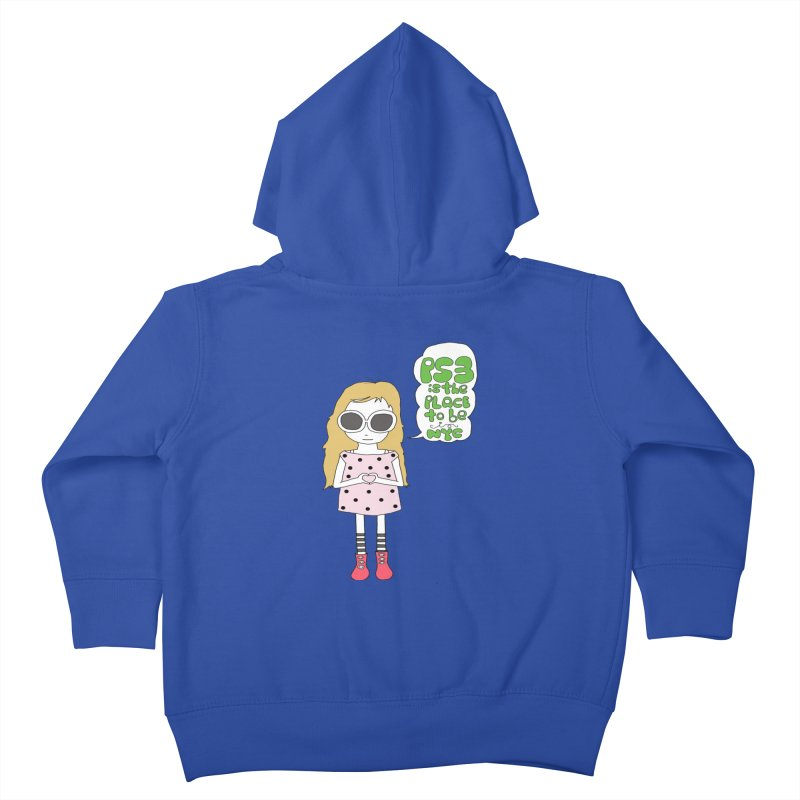 PS3 GIRL -- ZIP UP HOODY Kids Toddler Zip-Up Hoody by PS3: Charrette School