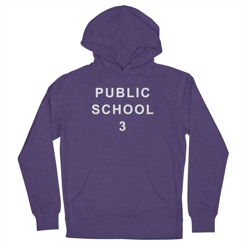 """PS3 Tee, """"Public School"""" white letters Men's French Terry Pullover Hoody by PS3: Charrette School"""