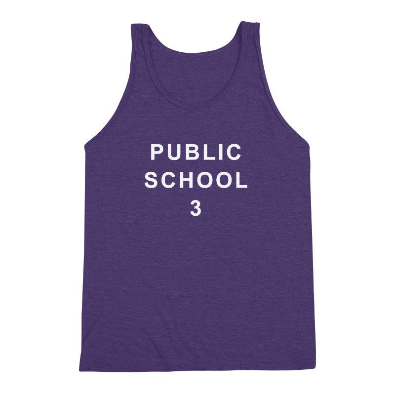 """PS3 Tee, """"Public School"""" white letters Men's Triblend Tank by PS3: Charrette School"""