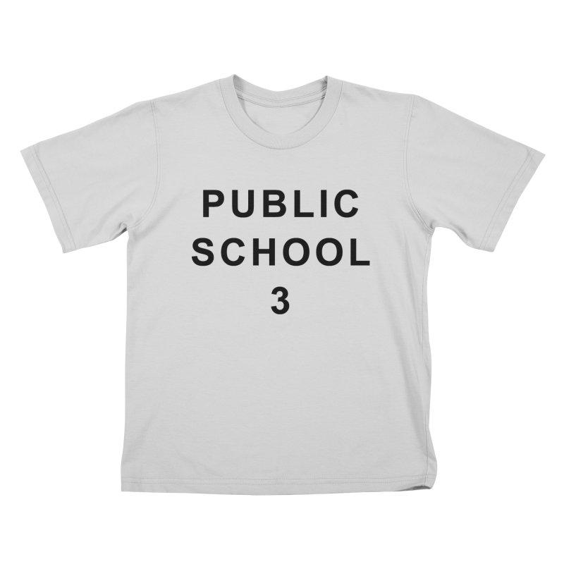 """PS3 Tee, """"Public School"""" black letters Kids T-Shirt by PS3: Charrette School"""