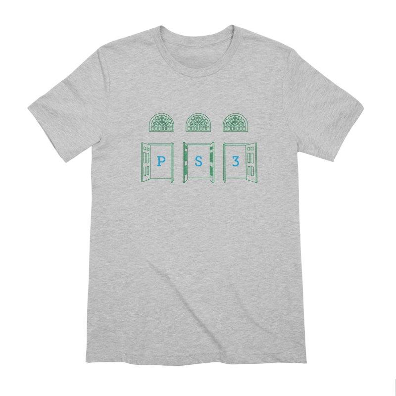 PS3 Tee, Green Doors Men's Extra Soft T-Shirt by PS3: Charrette School
