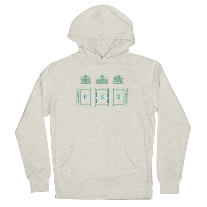 PS3 Tee, Green Doors Women's French Terry Pullover Hoody by PS3: Charrette School