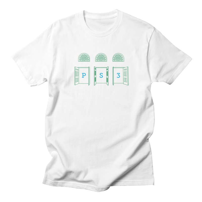 PS3 Tee, Green Doors Women's Regular Unisex T-Shirt by PS3: Charrette School