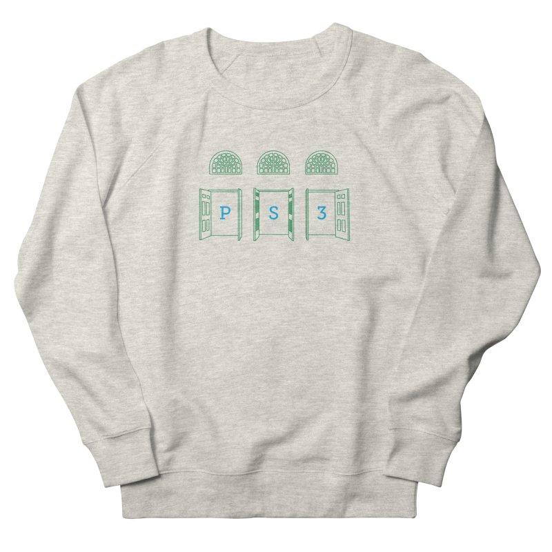 PS3 Tee, Green Doors Women's French Terry Sweatshirt by PS3: Charrette School