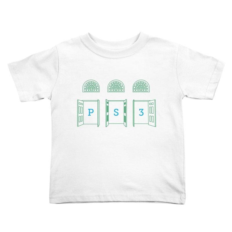 PS3 Tee, Green Doors Kids Toddler T-Shirt by PS3: Charrette School