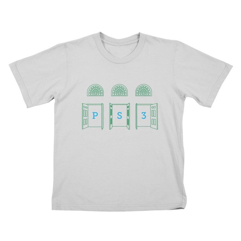 PS3 Tee, Green Doors Kids T-Shirt by PS3: Charrette School