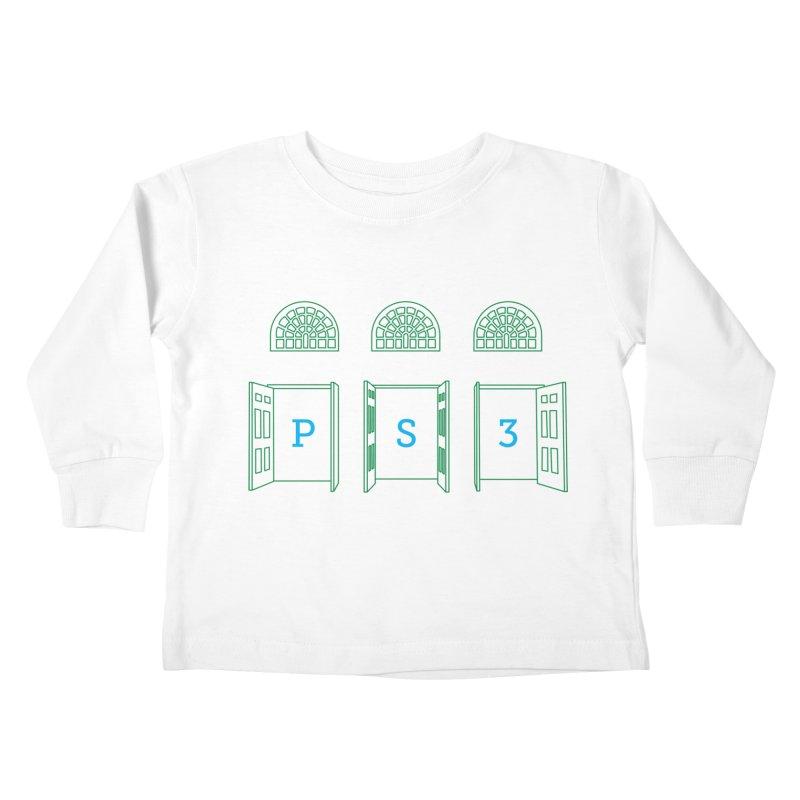 PS3 Tee, Green Doors Kids Toddler Longsleeve T-Shirt by PS3: Charrette School