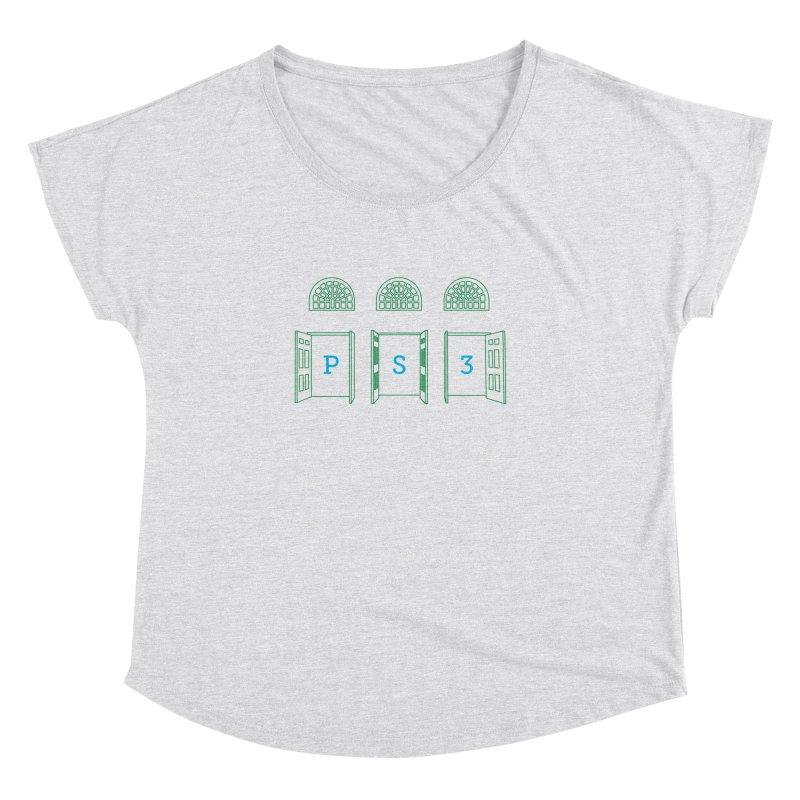 PS3 Tee, Green Doors Women's Dolman Scoop Neck by PS3: Charrette School
