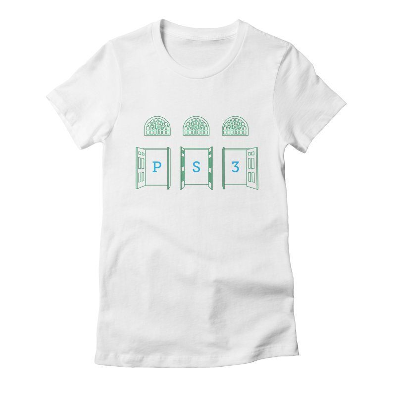 PS3 Tee, Green Doors Women's Fitted T-Shirt by PS3: Charrette School