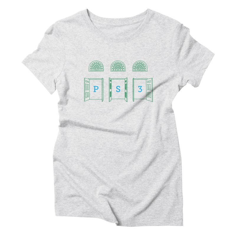 PS3 Tee, Green Doors Women's Triblend T-Shirt by PS3: Charrette School