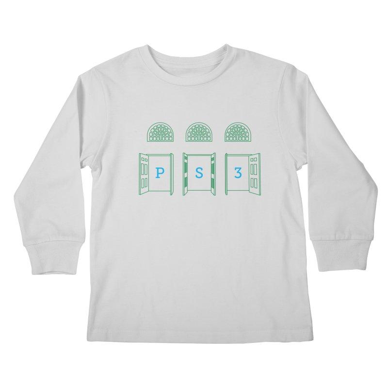 PS3 Tee, Green Doors Kids Longsleeve T-Shirt by PS3: Charrette School