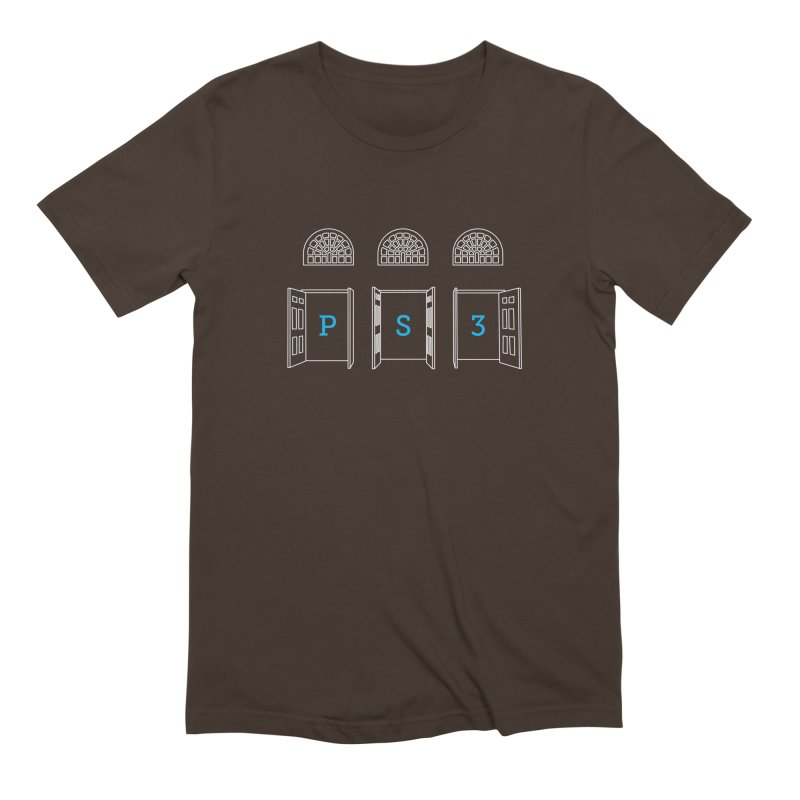 PS3 Tee, White Doors Men's Extra Soft T-Shirt by PS3: Charrette School