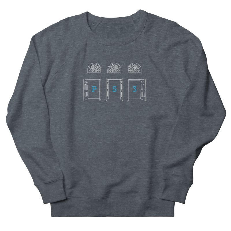 PS3 Tee, White Doors Men's French Terry Sweatshirt by PS3: Charrette School