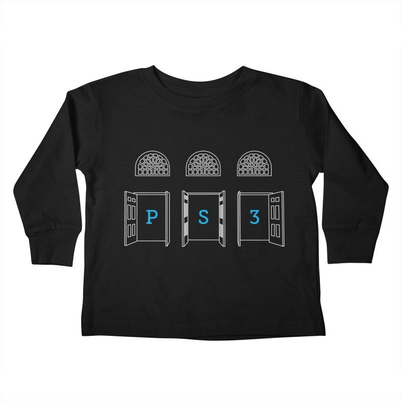 PS3 Tee, White Doors Kids Toddler Longsleeve T-Shirt by PS3: Charrette School