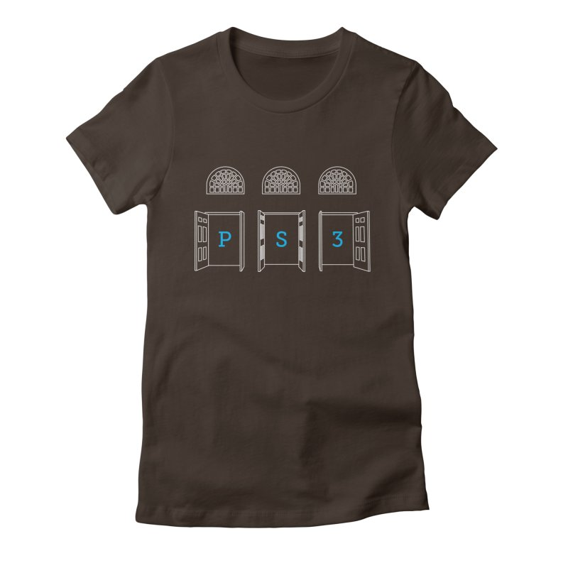 PS3 Tee, White Doors Women's Fitted T-Shirt by PS3: Charrette School