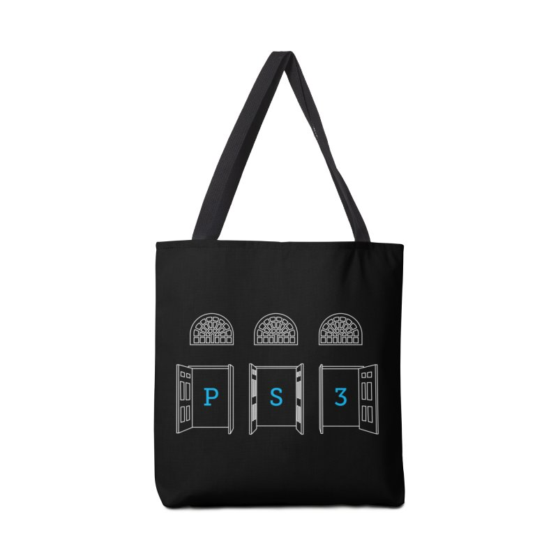 PS3 Tee, White Doors Accessories Tote Bag Bag by PS3: Charrette School