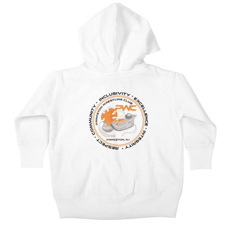 PWC Circle Logo White Shirts  Kids Baby Zip-Up Hoody by PWC's Artist Shop