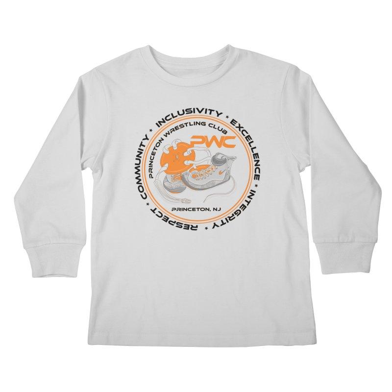 PWC Circle Logo White Shirts  Kids Longsleeve T-Shirt by PWC's Artist Shop